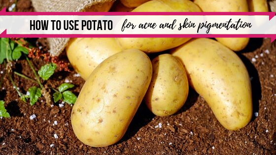 how to use potato for acne