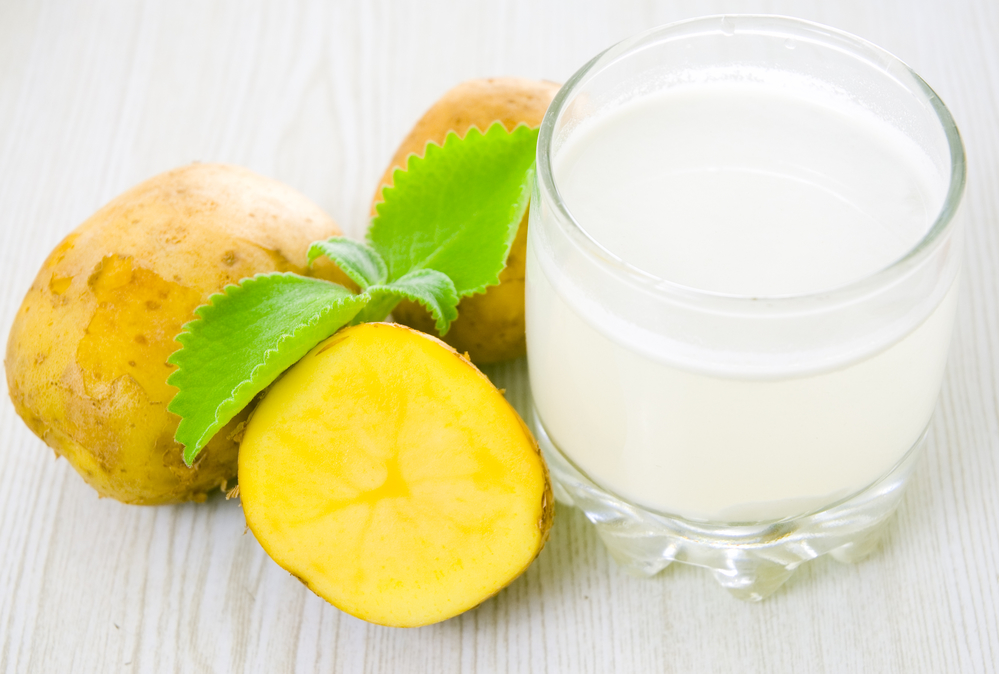 potato juice for acne marks