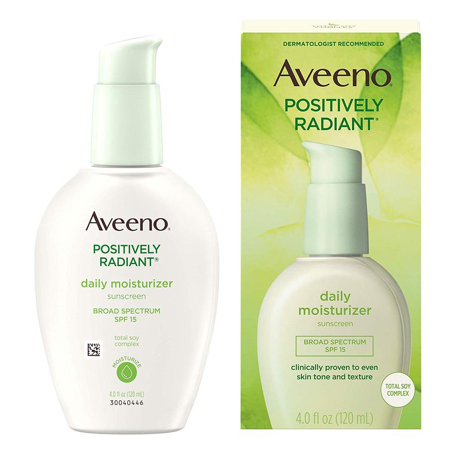 aveeno positively radiant daily face moisturizer