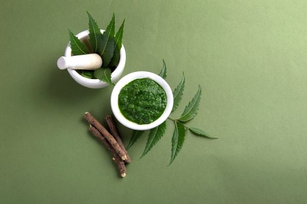 neem paste in a bowl