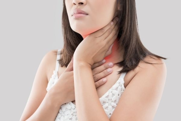 swollen lymph nodes caused by acne