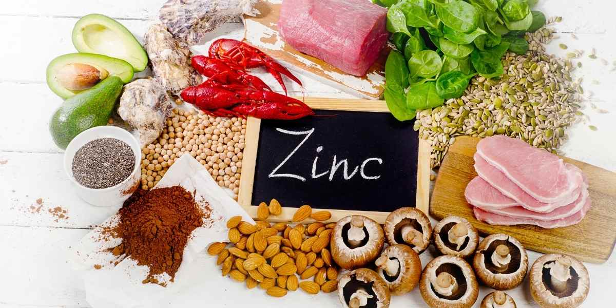 all foods containing zinc that can treat ace scars